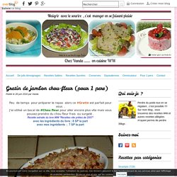 Gratin de jambon chou-fleur (pour 1 pers)