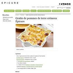 Gratin de pommes de terre crémeux Épicure