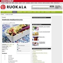 Gratinoitu kesäkasvisvuoka - Reseptit - Ruokala - Ilta-Sanomat