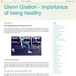 Glenn Gration - Importance of being healthy: How Building Muscle Boosts Fat Loss