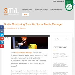 Gratis Monitoring Tools für Social Media Manager
