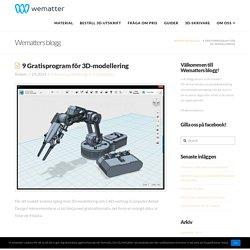 9 Gratisprogram för 3D-modellering - Wematter.se