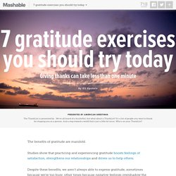 7 gratitude exercises you should try today