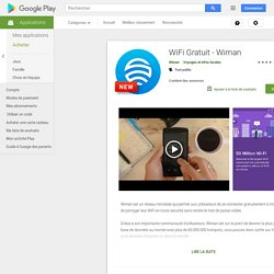 wiMAN Free WiFi – Applications Android sur GooglePlay