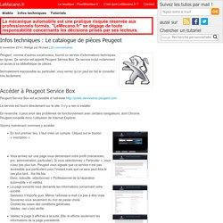 Accès gratuit au catalogue de pièces auto Peugeot Servicebox