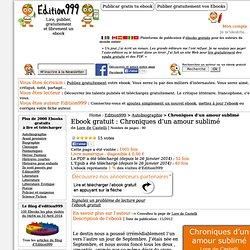 Ebook gratuit : Chroniques d'un amour sublimé