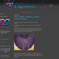 Free - Gratuit : Châle au crochet, chaleur-douceur - Le blog de Pom