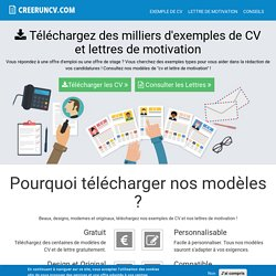 CV 100% GRATUIT : Exemple de CV - Lettre de motivation - Modle CV | Crer un CV