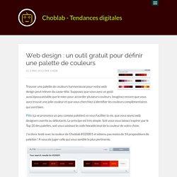 Web design : un outil gratuit pour définir une palette de couleurs
