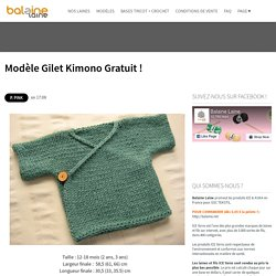 Modèle Gilet Kimono Gratuit ! ~ Balaine