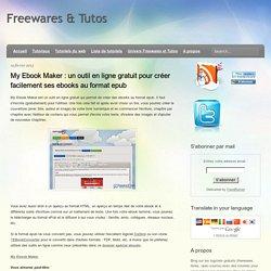 un outil en ligne gratuit pour créer facilement ses ebooks au format epub