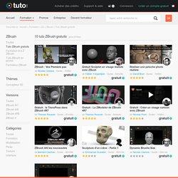 TUTO ZBrush gratuit, formations ZBrush gratuite sur TUTO.COM