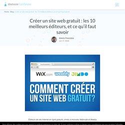 Créer un site web gratuit : les 10 meilleurs éditeurs (2020)