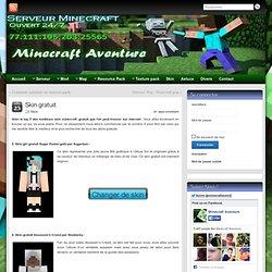 minecraft skin gratuit