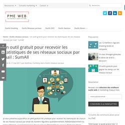 Un outil gratuit pour recevoir les statistiques de ses réseaux sociaux par mail : SumAll