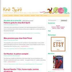 Knit Spirit: Patron gratuit