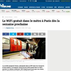 Le WiFi gratuit dans le métro à Paris dès la semaine prochaine