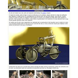 gratuit plans de Do It Yourself 4 roues vélo voiture à pédales