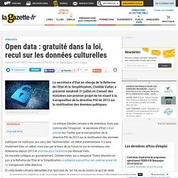 Open data : gratuité dans la loi, recul sur les données culturelles