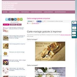 Carte mariage gratuite à imprimer ~ Invitation mariage - Carte mariage - Texte mariage - Cadeau mariage