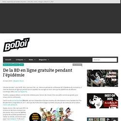 De la BD en ligne gratuite pendant l'épidémie