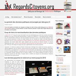 La gratuité des données publiques encouragée par data.gouv.fr