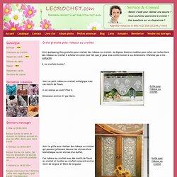 Grille gratuite pour rideaux au crochet - Napperon crochet d'art pur coton fait main