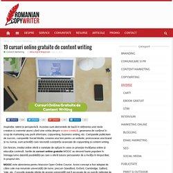 Cursuri online gratuite de content writing