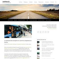 La gratuité des transports en commun progresse en France