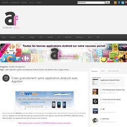 Créer gratuitement votre application Android avec appsbar