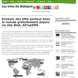 Envoyer des SMS partout dans le monde gratuitement depuis un site Web, AFreeSMS