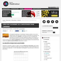 Créer son calendrier 2012 gratuitement pour l'imprimer