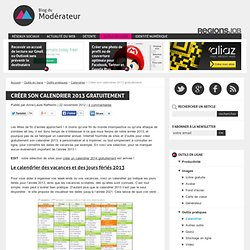 Cr er un calendrier pearltrees - Creer son calendrier ...