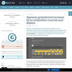 Apprenez gratuitement les bases de la composition musicale avec Ableton
