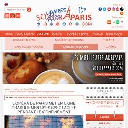 Opéra de Paris : spectacles gratuits en ligne