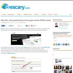 bit.ly Pro: créez gratuitement votre propre service d'URL courte