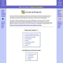 Recevez de l'aide gratuitement avec les leçons interactives de mathématiques de Math Goodies!