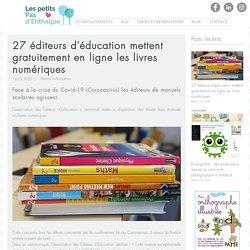27 éditeurs d'éducation mettent gratuitement en ligne les livres numériques