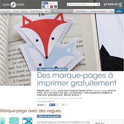 Des marque-pages à imprimer gratuitement - Papiers & scrapbooking