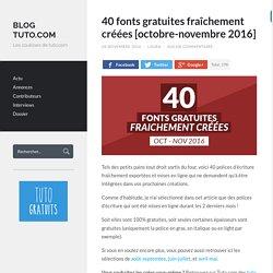 40 fonts gratuites fraîchement créées [octobre-novembre 2016]