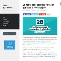 28 fonts sans serif gratuites et géniales à télécharger