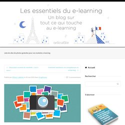 Liste de sites de photos gratuites pour vos modules e-learning