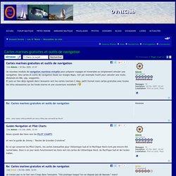 Cartes marines gratuites et outils de navigation : Nouvelles du site - Forum nautique OVNI-Club