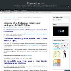 Mindomo offre des licences gratuites aux participants du MOOC ITyPA3