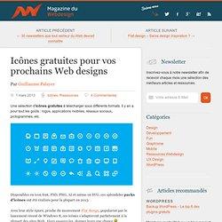 Packs icônes gratuites pour vos prochains Web designs