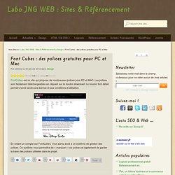 Font Cubes : des polices gratuites pour PC et Mac