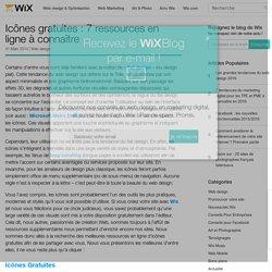 Icônes gratuites : 7 ressources en ligne - Le Blog Officiel de Wix.com