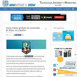 Curso online gratuito de animación de Pixar, en español