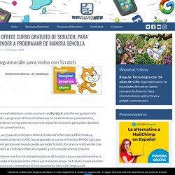 UOC ofrece curso gratuito de Scratch, para aprender a programar de manera sencilla