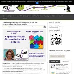 Terzo webinar gratuito: Capacità di sintesi, strumenti ed attività a scuola